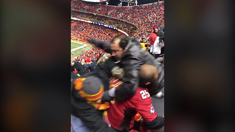 Watch video: Rowdy Raiders and Chiefs fans brawl after Thursday Night Football game at Arrowhead